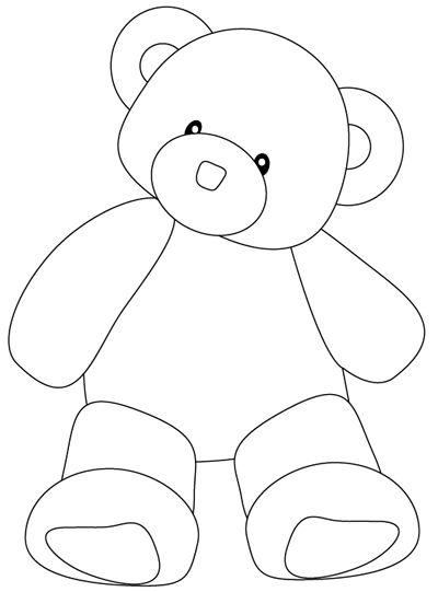 الگوی خرس نمدی ساده