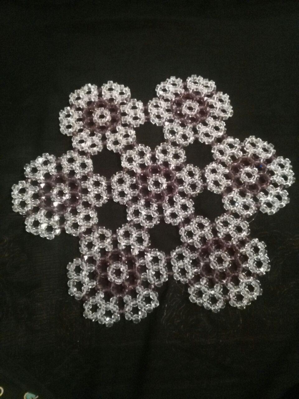 رومیزی کریستال طرح گل